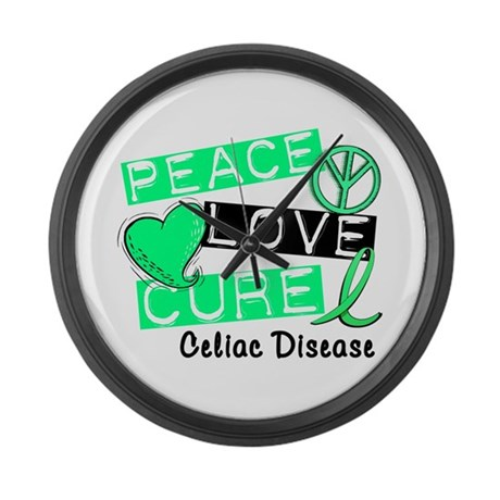 PEACE LOVE CURE Celiac Disease (L1) Large Wall Clo