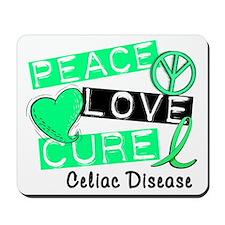 PEACE LOVE CURE Celiac Disease (L1) Mousepad