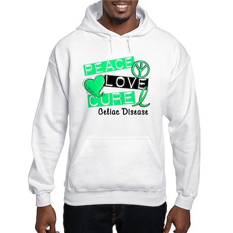 PEACE LOVE CURE Celiac Disease (L1) Hooded Sweatsh