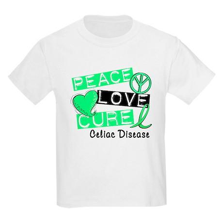 PEACE LOVE CURE Celiac Disease (L1) Kids Light T-S