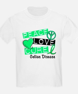 PEACE LOVE CURE Celiac Disease (L1) T-Shirt