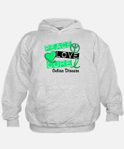 PEACE LOVE CURE Celiac Disease (L1) Hoodie