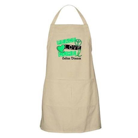 PEACE LOVE CURE Celiac Disease (L1) BBQ Apron