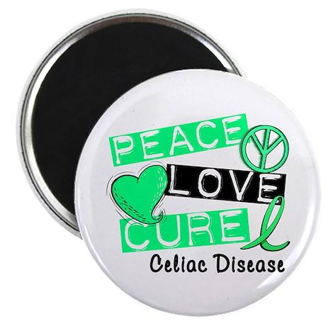 PEACE LOVE CURE Celiac Disease (L1) Magnet