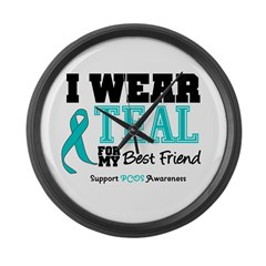 IWearTeal Best Friend Large Wall Clock
