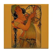 Alphonse Mucha Art Nouveau Tile Coaster - Salome
