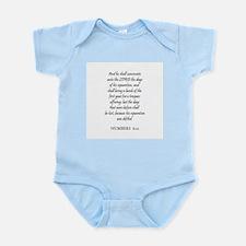 NUMBERS  6:12 Infant Creeper