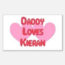Daddy Loves Kieran Rectangle Decal
