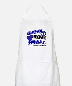 PEACE LOVE CURE Colon Cancer BBQ Apron
