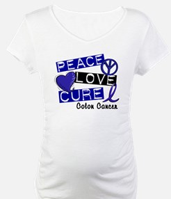 PEACE LOVE CURE Colon Cancer Shirt