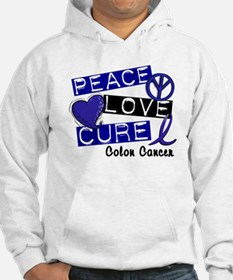 PEACE LOVE CURE Colon Cancer Hoodie