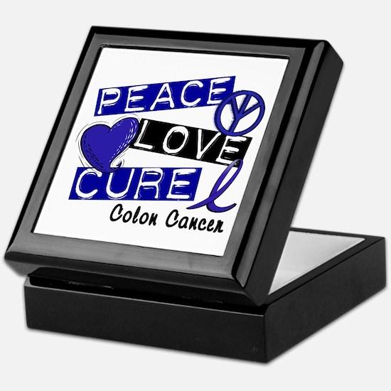PEACE LOVE CURE Colon Cancer Keepsake Box