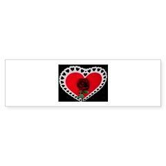 valentine red rose Bumper Sticker (10 pk)