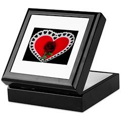 valentine red rose Keepsake Box
