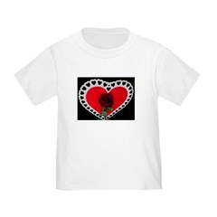 valentine red rose Toddler T-Shirt