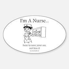 I'm A Nurse Oval Decal