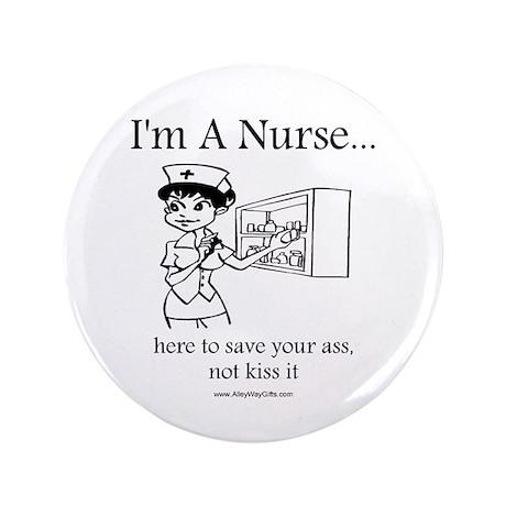 """I'm A Nurse 3.5"""" Button (100 pack)"""