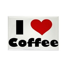 I Heart Coffee Rectangle Magnet