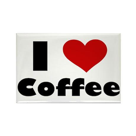 I Heart Coffee Rectangle Magnet