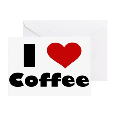 I Heart Coffee Greeting Card