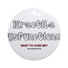 Erectile Dysfunctional Ornament (Round)