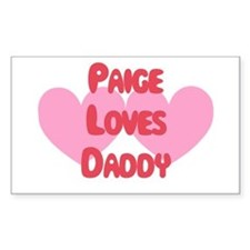 Paige Loves Daddy Rectangle Decal