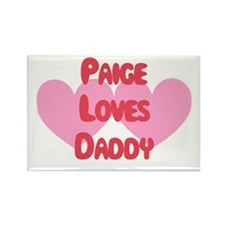 Paige Loves Daddy Rectangle Magnet