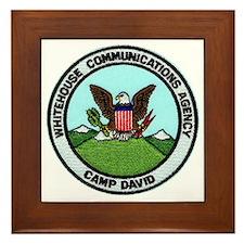 Camp David Communications Framed Tile