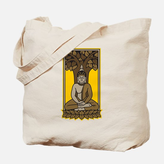 Buddha Under Bodhi Tree Tote Bag