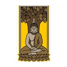 Buddha Under Bodhi Tree Rectangle Decal