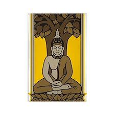Buddha Under Bodhi Tree Rectangle Magnet (100 pack