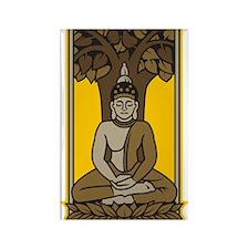 Buddha Under Bodhi Tree Rectangle Magnet