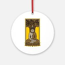 Buddha Under Bodhi Tree Ornament (Round)