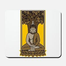 Buddha Under Bodhi Tree Mousepad