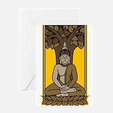 Buddha Under Bodhi Tree Greeting Card