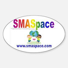 SMASpace Rainbow Design Oval Decal