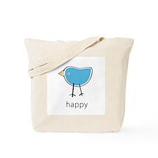 happy blue bird Tote Bag