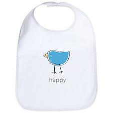 happy blue bird Bib