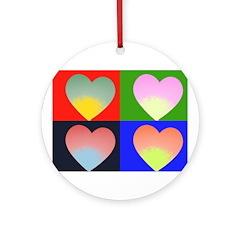 Hearts 4 Ornament (Round)