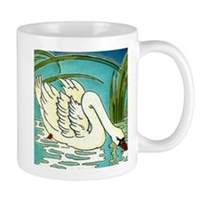 Swan Lake Art Tile Coffee Mug