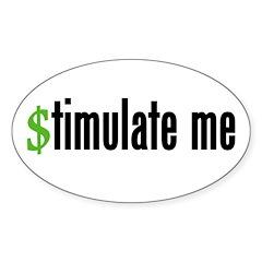 """stimulate me"" Oval Sticker (10 pk)"