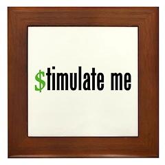 """""""stimulate me"""" Framed Tile"""