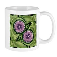 Art Nouveau Flowers Art Tile Mug