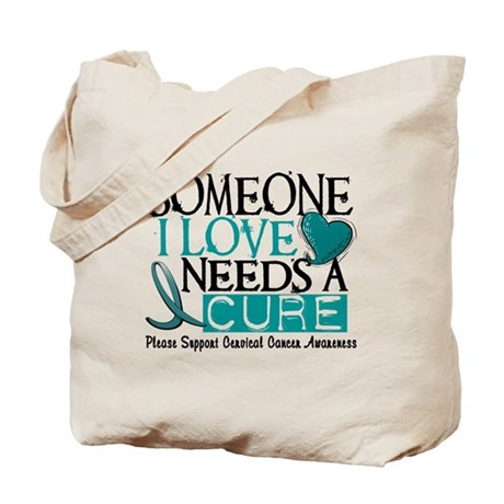 Needs A Cure 1 Cervical Cancer Tote Bag
