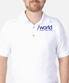 End of the World Golf Shirt