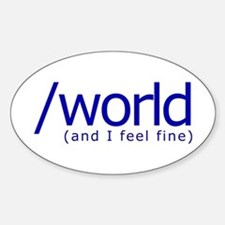 End of the World Oval Decal