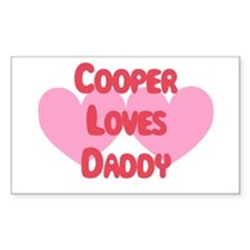 Cooper Loves Daddy Rectangle Decal