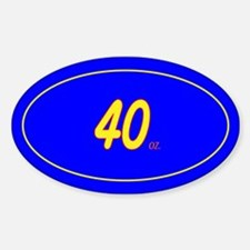 40 oz. Oval Decal