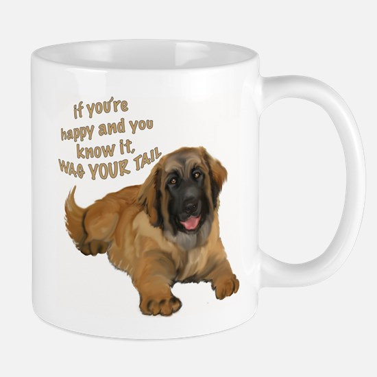 leonberger puppy wag Mug