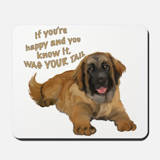 leonberger puppy wag Mousepad